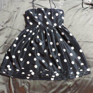 Jessica Howard Dark Blue Polka Dot Dress